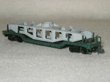 N Scale Long Depressed Center Flat Car with Load Freight Car Arnold Rapido