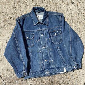vintage wrangler denim jacket Deadstock Size M