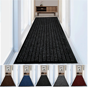 Heavy Duty Non Slip Rubber Barrier Mat Hall Runner Kitchen Floor Carpet Door Mat
