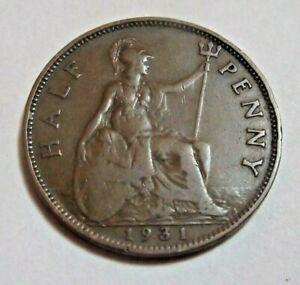 1931  Half Penny - King George V