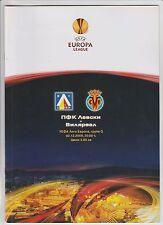 Orig.PRG   Europa League  2009/10   LEVSKI SOFIA - VILLARREAL CF  !!  SELTEN