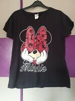 Ladies Fruit Of The Loom Minnie Mouse Short Sleeved T Shirt Size XL