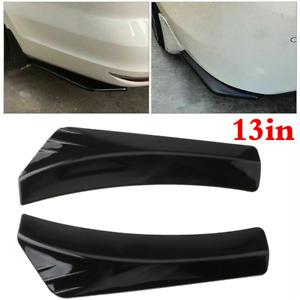 Universal Car Rear Bumper Canard Splitter Diffuser Valence Spoiler Glossy Black