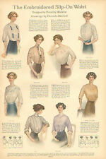 The Embroidered Slip - On Waste, by Hannah Mitchell, Vintage 1912 Art Print.