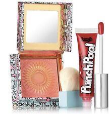 BENEFIT Hug Hug Hurray Galifornia Sunny Golden-Pink Blush and Liquid Lip Set~NIB