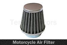 1 x Moto Motocicletta Chopper Aspirazione Aria Filtro Performance Cromo L1 54mm