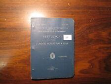 REGIA AERONAUTICA, ISTRUZIONI MOTORE FIAT A 30 RA. ANNO 1934.  (60)