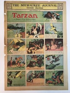 RARE Tarzan Sunday Pages, 1931, Hal Foster Art, Lot of 11 Pages,