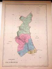 PERÚ,Departamento de Cajamarca.Paz Soldán.Geografía del Perú 1865.