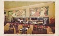 Postcard Lotta's Fountain Palace Hotel San Francisco CA California
