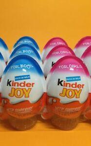 Ferrero 8 Boys 8 Girls Chocolate Kinder Joy Surprise Eggs Gift Kids Easter Egg