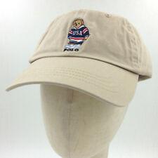 Men's Polo Embroidery Sweater Bear Hat Khaki Baseball Soccer Vintage Cap