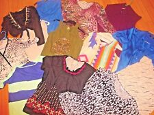Huge Women's plus size lot of 13 TOPS 1X/2X/3X  STYLISH TOPS