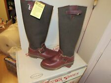 "NIB VINTAGE CHIPPEWA 17"" SNAKER SNAKE BOOTS SZ 5 BRAND NEW OLD STOCK MADE IN USA"