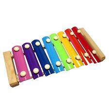 Colourful  Childrens Kids Metal Xylophone Glockenspiel Musical Instrument
