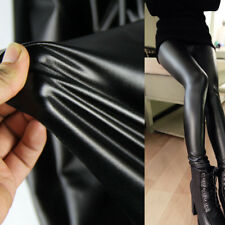 4 Way Stretch Elastic PU Leather Fabric Lycra Spandex Vinyl Fleece Back