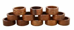 Wooden Napkin Rings Handcrafted In Natural Wood-Set of 12 Rings