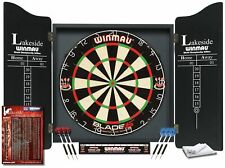Professional Darts Board Set Winmau Lakeside Dartboard World Champion with Darts