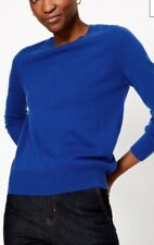 Marks And Spencer New Size 10 Pure Cashmere Jumper Marine