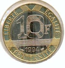 TOP RARE @ MONNAIE DE 10 FRANCS GENIE BASTILLE DE 1994 ABEILLE SUPERBE @ RARE