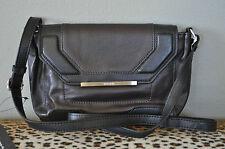 WALTER Baker Black & Brown Colorblock Leather Bar Crossbody Purse Handbag