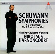 SCHUMANN SYMPHONIES BY NIKOLAUS HARNONCOURT (CD, TELDEC)BRAND NEW FACTORY SEALED