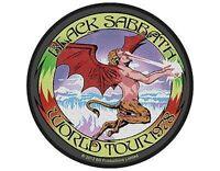 BLACK SABBATH world tour 1978 - 2012 circular WOVEN SEW ON PATCH (sealed) Ozzy