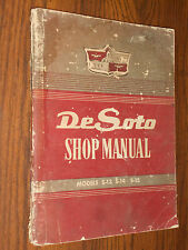 1949 1950 1951 DeSOTO SHOP MANUAL / ORIGINAL DE SOTO BOOK S13 S14 S15