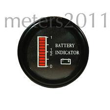 "2"" 24 Volt Battery indicator, Battery Discharge Indicator Round - EZGO, Clubcar"