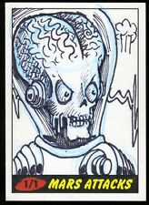 UNKNOWN ARTIST?? 2012 Topps Mars Attack Heritage Sketch Card 1/1