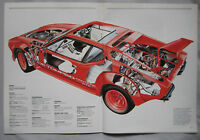 THE CAR Magazine Issue 43 featuring De Tomaso Pantera cutaway drawing, Lotus 72
