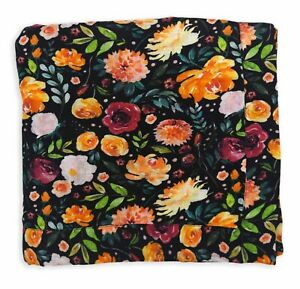 "NEW Earthy 100% Organic Cotton Muslin Baby Girl Blanket - 48""x48"" 2 Layer Evelyn"