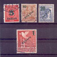 Berlin 1949 - Grün-Aufdruck - MiNr. 64/67 rund gestempelt - Michel 40,00 € (028)