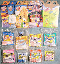 1993 Happy Meal Toys - MICKEY & FRIENDS EPCOT -  Sealed / Mint Set (8) + 4 Boxes