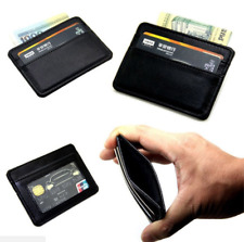 Noble Men's Black Leather Slim Wallet Thin Credit Card Holder ID Case Purse Bag