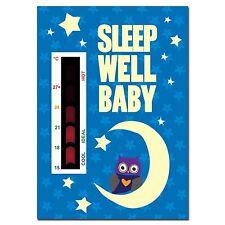 Sleep Well Baby Owl, Moon & Stars Nursery Room Safety Temperature Thermometer