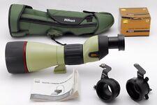 【AB Exc+】 Nikon FIELDSCOPE ED82 D=82 P w/Eyepiece 30x W DS w/FSB-8, FSB-6 #2995