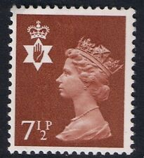 GB QEII Northern Ireland SG NI23 7 1/2p Chestnut 2B. Regional Machin.