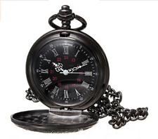 Unisex Skelettuhr Mechanische Uhr Handaufzug Herren Analog Taschenuhr Kette DE