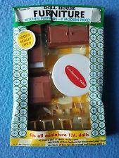 New ListingModern Kitchen 8 Piece Miniature Tv Dolls House Furniture Norstar Hong Kong