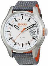 NIB Hugo Boss 15500015 Orange Hong Kong  White Man Watch