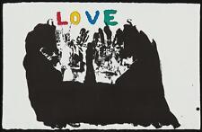 """JIM cenare: L/e (75) litografia """"Guanti"""" 1970-HAND-SIGNED & NUMERATO"""