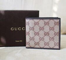 New Gucci Men's Brown GG Crystal Coated Canvas Wallet 150411 9903