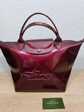Longchamp Victoire Lack Bordeaux modele depose limitierte Edition Tasche