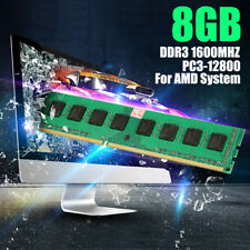 8GB 1x 8G DDR3 PC3-12800 1600MHz DIMM 240 Pin Memory RAM for AMD System Desktop