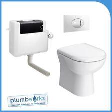 E-PLUMB D Shaped Compact Back to Wall Toilet Pan - AJLIN001