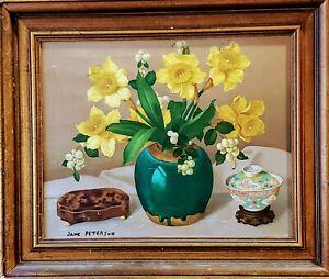 Jane Peterson Oil American Expressionist Still Life 1930s Tiffany Van Gogh Study
