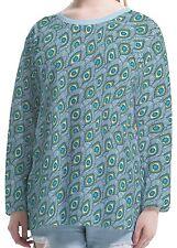 Feather Paisley Women Long Sleeve Round Neck Tee T-shirt b103 acq02930