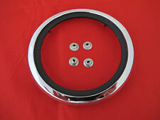 FORD FALCON XW XY GT PETROL FUEL CAP CHROME SURROUND NEW WITH SPEED NUTS 302 351