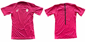 Stade Francais Mens Jersey Asics Training Jersey Pro Top14 Rugby - New